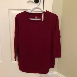 Never worn red Loft tunic